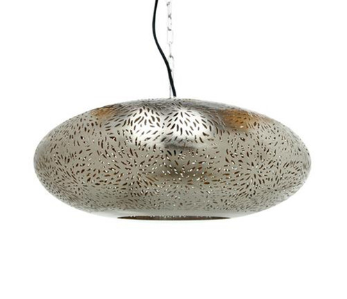 Ellipse Nickel Peforated Pendant Light