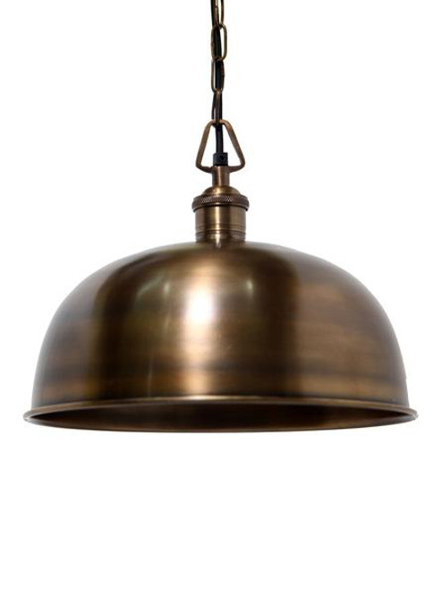 Rye Solid Brass Dome Pendant Light