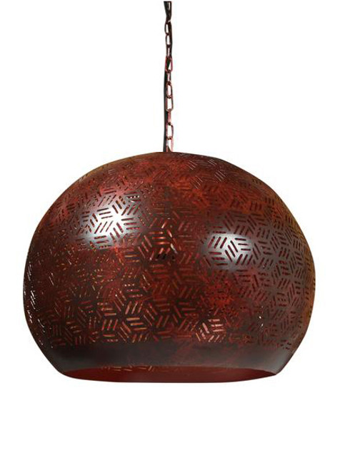 Galaxia Etch Bronze Dome Pendant Light