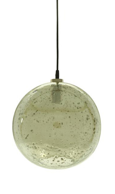 Lustre Glass Ball Stone Effect Pendant Light - Green