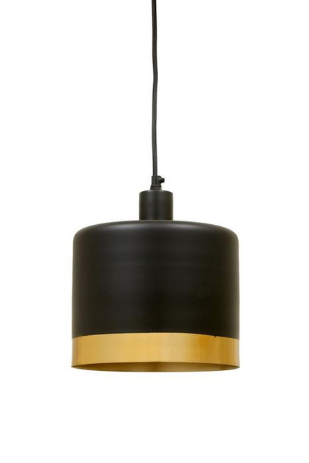 Montreal Black Gold Drum Pendant Light