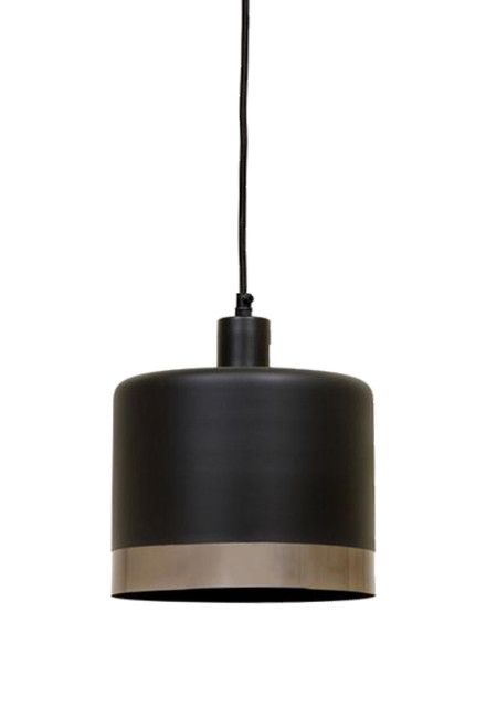 Montreal Black Nickel Drum Pendant Light