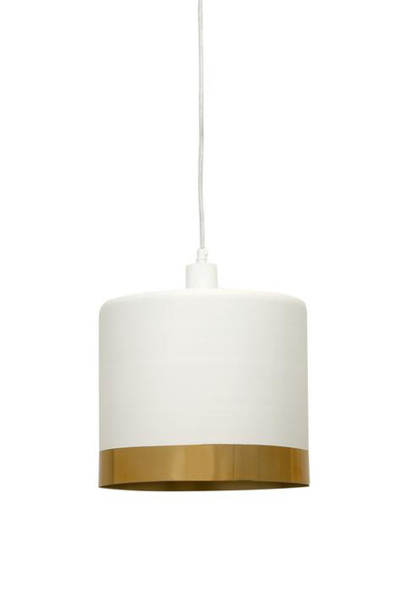 Montreal White Gold Drum Pendant Light