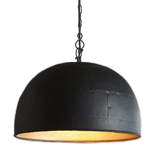 Noir Large Black Label Gold Pendant Light