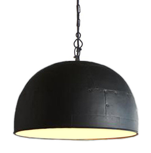 Noir Large Black Label White Pendant Light - Switched On