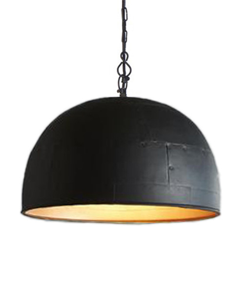 Noir Medium Black Label Gold Pendant Light