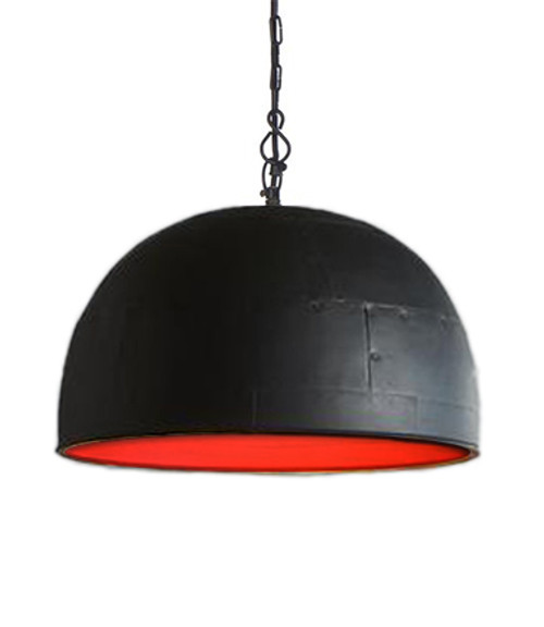 Noir Medium Black Label Red Pendant Light
