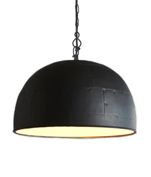 Noir Medium Black Label White Pendant Light