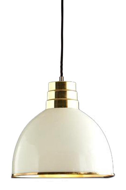 West Ivory Tall Dome Pendant Light