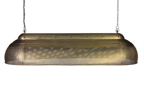 River Extra Long Linear Brass Iron Pendant Light