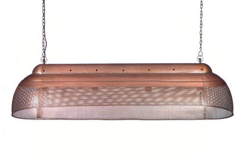 River Extra Long Linear Copper Iron Pendant Light