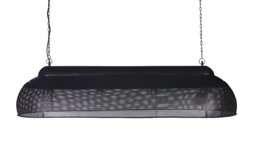 River Extra Long Linear Black Gold Pendant Light