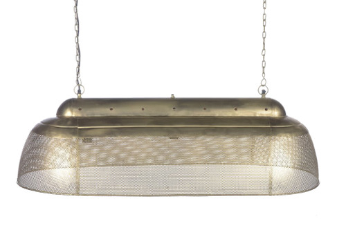 River Long Linear Brass Iron Pendant Light
