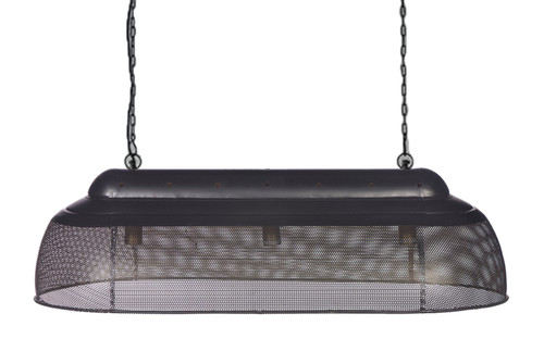 River Long Linear Black Gold Pendant Light