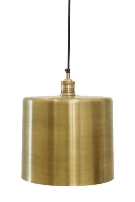 Zet Brass Drum Pendant Light