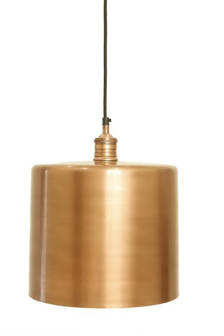 Zet Copper Drum Pendant Light