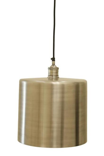 Zet Silver Drum Pendant Light