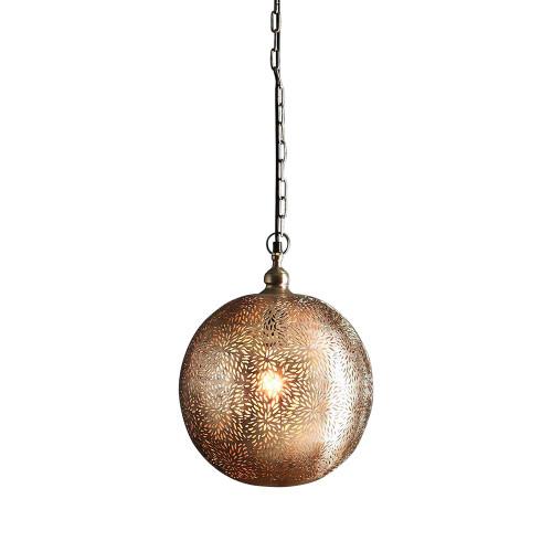 Polaris Perforated Round Ball Pendant Light