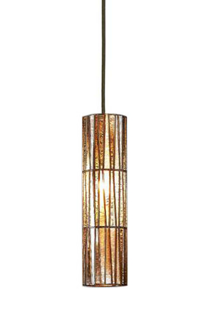 Cavalier Medium Glass Brass Cone Pendant