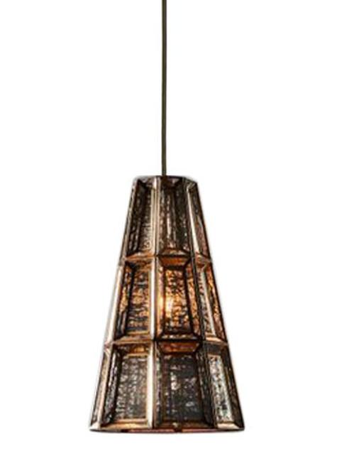 Park Glass Brass Cone Pendant Light