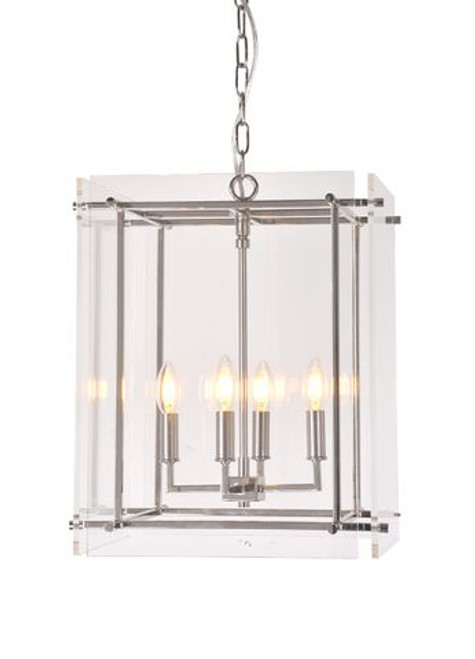 Duca 4 Light Nickel Pendant Chandelier