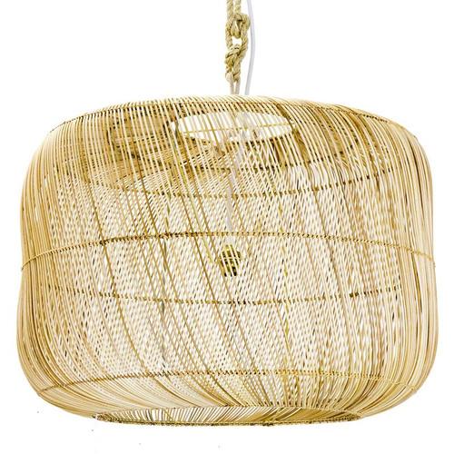 Rattan Drum Pendant Light