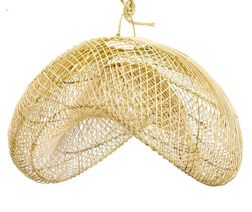 Rattan Wave Pendant Light