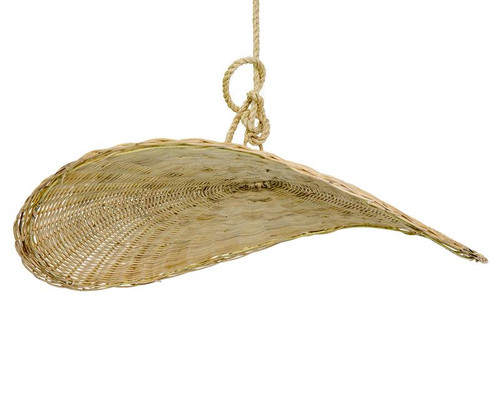 Rattan Thin Wave Pendant Light