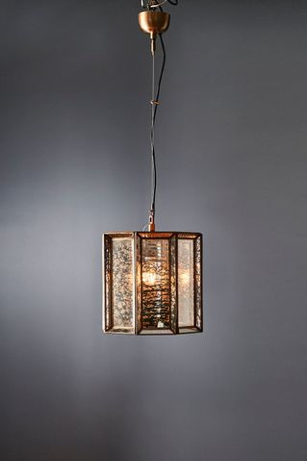 Ox Glass Iron Brass Pendant Light
