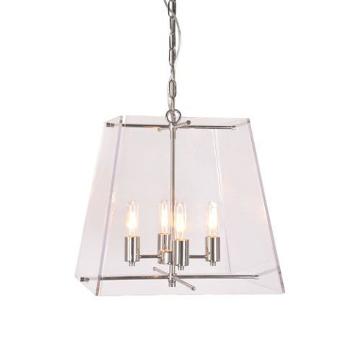 Venn 4 Light Nickel Pendant Chandelier