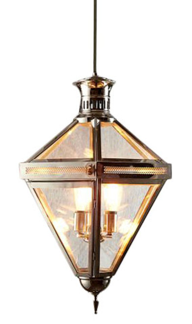 Rockefeller 3 Light Nickel Glass Pendant Chandelier