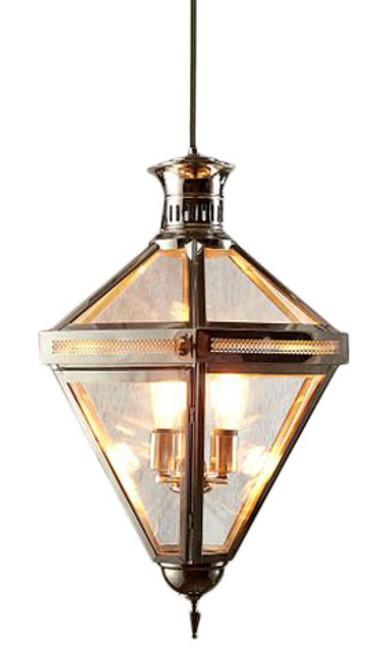 Rockefeller 3 Light Nickel Glass Pendant Chandelier
