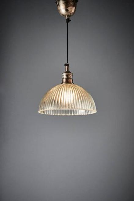 Frat Antique Silver Dome Glass Pendant Light