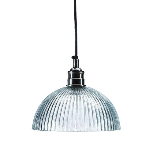 Frat Antique Silver Dome Glass Pendant Light