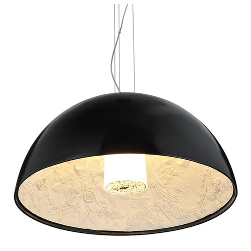 Replica Flos Marcel Wanders SkyGarden Pendant Lamp - Gloss Black - Light On - Medium