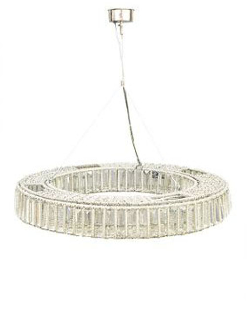 Esperanza Nickel Glass Round Pendant Light