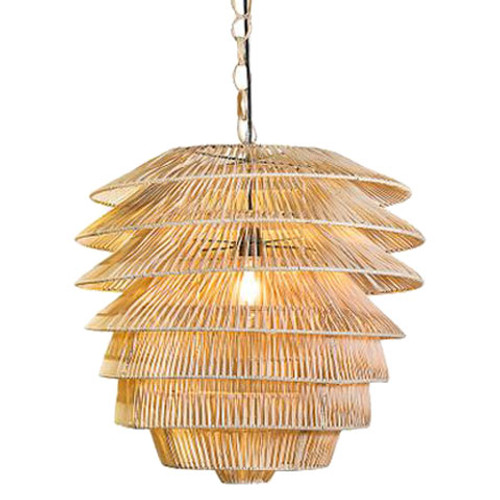 Saba Rattan Natural Pendant Light