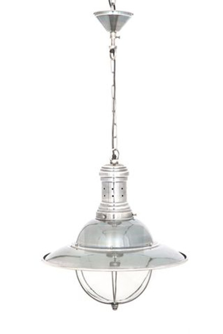 Marine Silver Hanging Lamp with Canopy