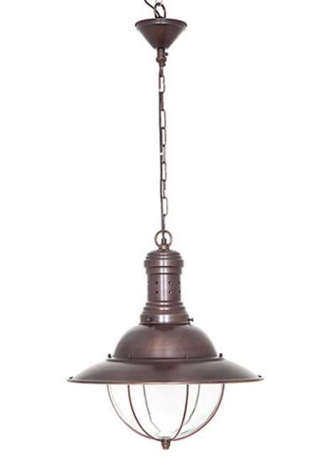 Marine Bronze Hanging Lamp with Canopy