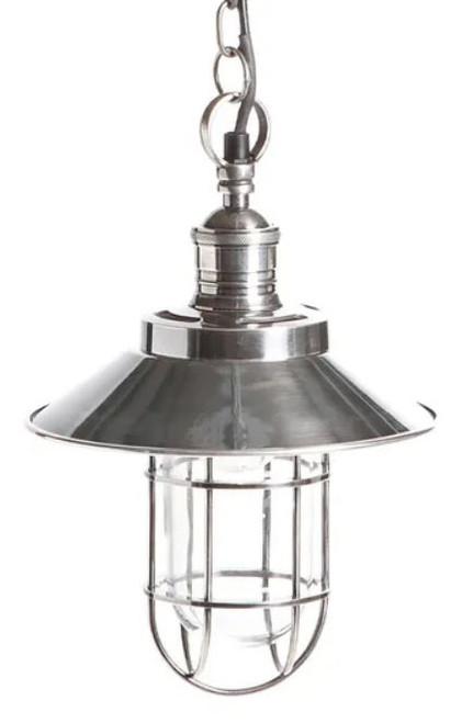 Vermont Antique Silver Edison Pendant Light