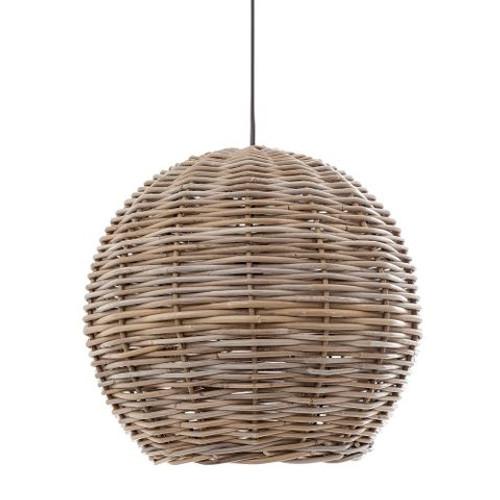 Palm Rattan Round Hanging Pendant Lamp