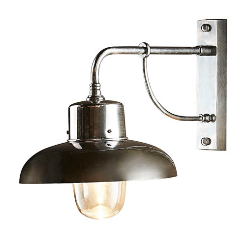 Bridgewater Silver Outdoor Wall Lamp