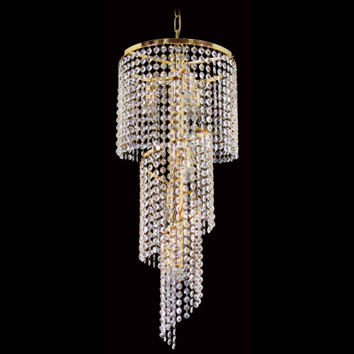 Spiral Glacier Asfour Crystal Chandelier - Small - Gold