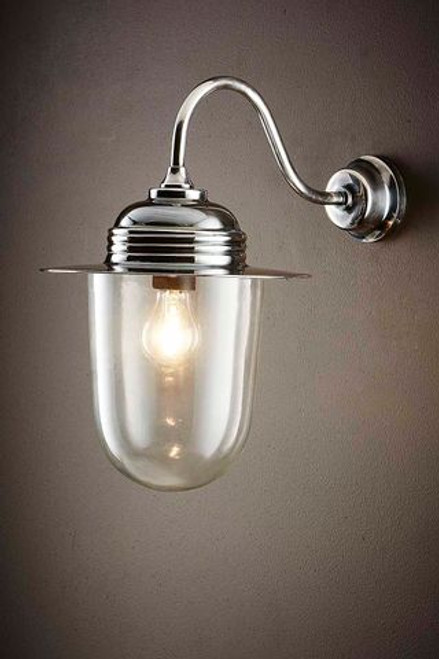 Stanton Antique Silver Wall Lamp - Lights On