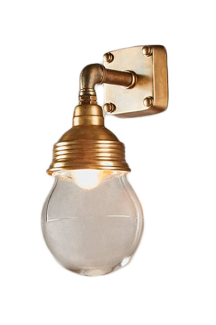 London Antique Brass Indoor/Outdoor Wall Lamp