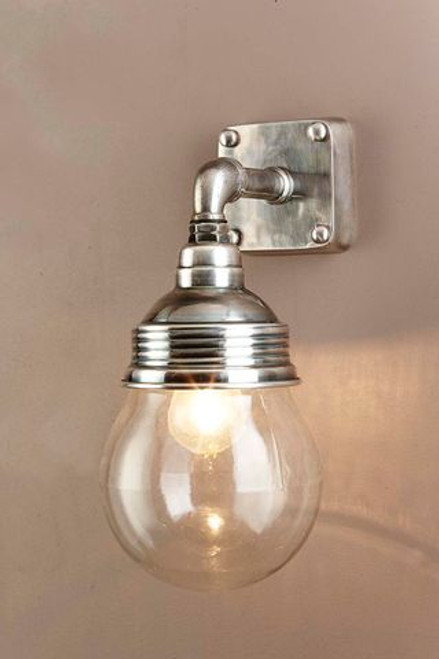 London Antique Silver Indoor/Outdoor Wall Lamp