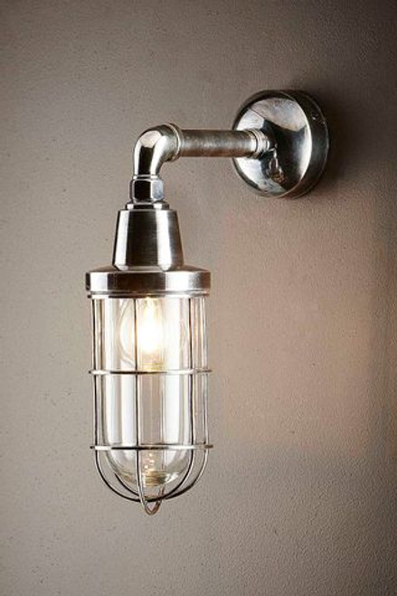 Brighton Antique Silver Wall Lamp - Lights On