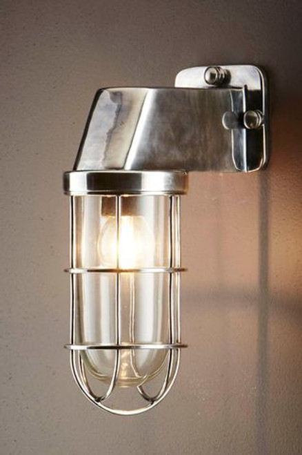 Royal Antique Silver Indoor/Outdoor Wall Lamp