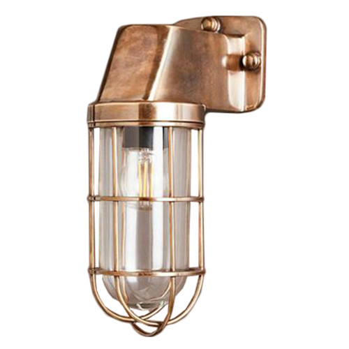Royal Antique Brass Indoor/Outdoor Wall Lamp