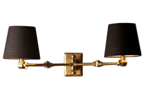 Rochester 2 Light Brass Wall Lamp